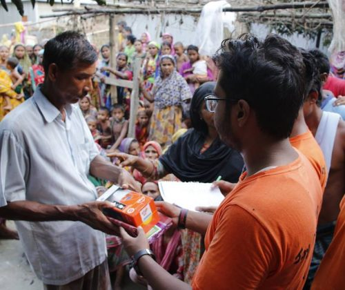 Giving Solar Light to the flood affected people in north bengal