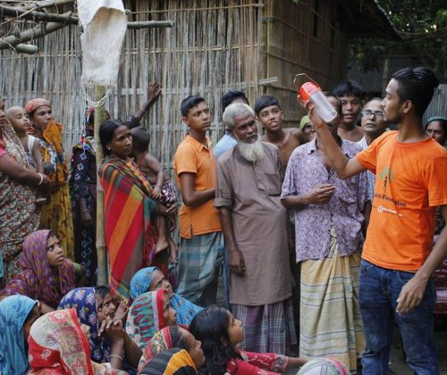Distributing Solar Light among the Flood Affected People