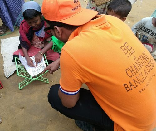Giving Education to the Rohingya children
