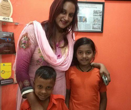 Farjana Akhter, Child Sponsor of our two children visited our Mirpur School