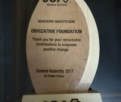 We are honored to have another recognition from JCI Dhaka Central