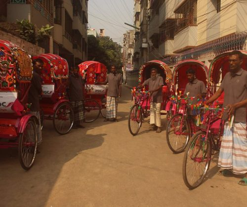 IPDC Finance Donated Six Rickshaw in our SHOKKHOM Project